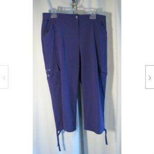 Zenergy by Chico's 2 Purple Neema Capri Pants